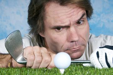 Konzentration beim Golfen
