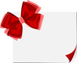 Card note with a big red bow