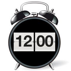 Wecker retro - Uhrzeit 12:00