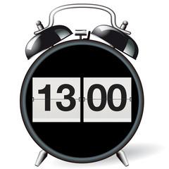 Wecker retro - Uhrzeit 13:00