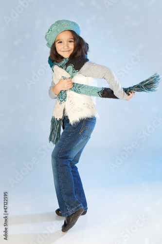 Winter little girl