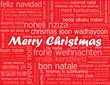 """MERRY CHRISTMAS"" card (happy xmas santa claus greetings)"