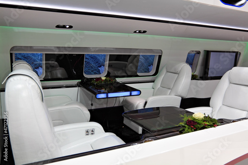 Luxurious plane interior