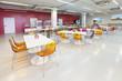 Leinwanddruck Bild - The interior of the factory canteen, nobody