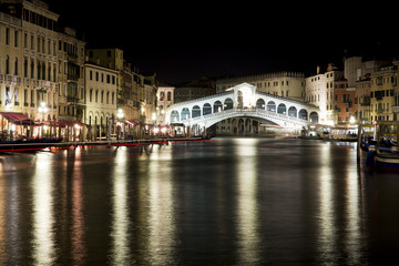 Rialto Bridge by night - Venice