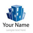 Logo property developer, house and city # Vector