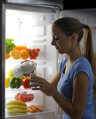 Woman pour out milk