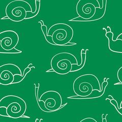 snail seamless pattern vector