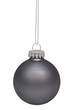 Black christmas bauble isolated on white background