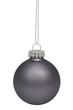 Black christmas bauble isolated on white background