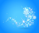 Blue snowflakes design