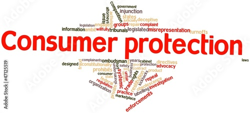 Word cloud for Consumer protection
