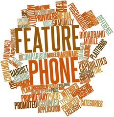 Word cloud for Feature phone