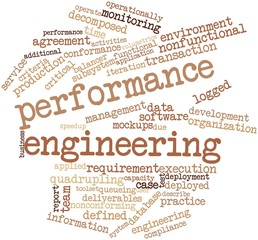 Word cloud for Performance engineering