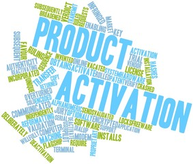 Word cloud for Product activation