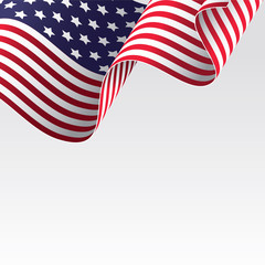 American flag vector illutration