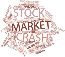 Word cloud for Stock market crash
