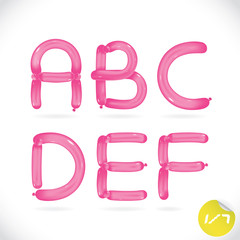 Balloon Alphabet, Letters, Illustration, Sign, Icon, Symbol