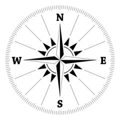Compass wind rose, vector