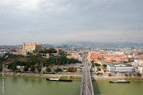 View of Bratislava from the river Danube