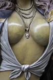 Jeweled neckline poster