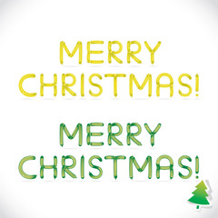 Balloon Merry Christmas Phrase, Letters, Sign, Icon, Symbol
