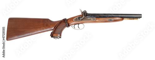 Vintage large-bore hunting gun. British colonial weapon.