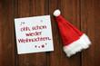 Ohh, schon wieder Weihnachten....