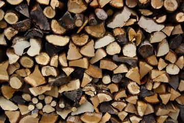 yakılmak için istiflenen odunlar