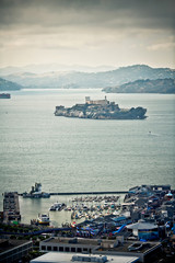 San Francisco skyline with Alcatraz