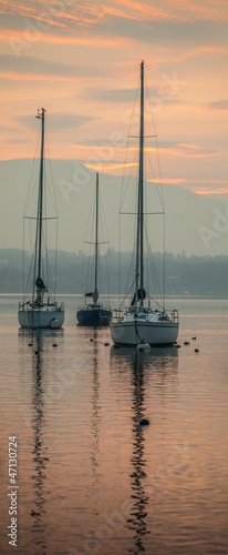 Boats and Sunrise © akulamatiau