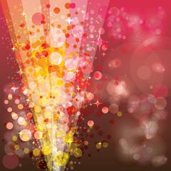 Festive background, luminous rays