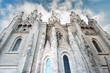 View of the cathedral in Barcelona Spain