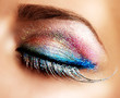 Beautiful Eyes Holiday Make-up. False Lashes