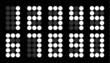 Set of white dot digital number