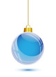 Blue christmas tree hanging