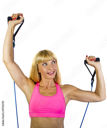 Fitness Trainer with Gym Bands