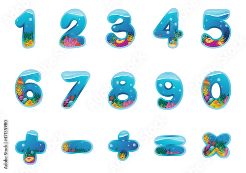 numbers and signs