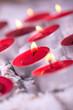 rote Weihnachts Teelichter