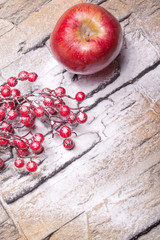 Roter Apfel mit Cranberries