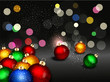 vector christmas background with Christmas balls