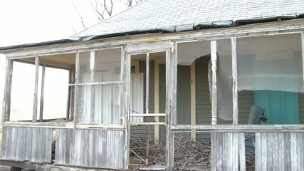 Old Front Porch on Abandoned House