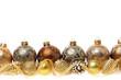 Golden Christmas ornaments border