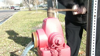 Opening Fire Hydrant & Draining Water