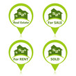 Real Estate Sign Pins - For Sale, For Rent, Sold.