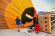Hot air balloon and pilots at Cappadocia Turkey