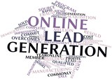 Word cloud for Online lead generation