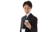 businessman working with smartphone