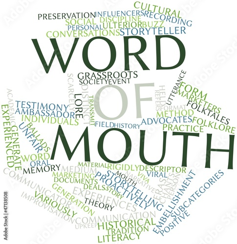 Word cloud for Word of mouth