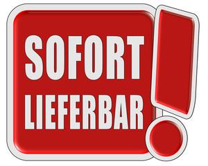 !-Schild rot quad SOFORT LIEFERBAR